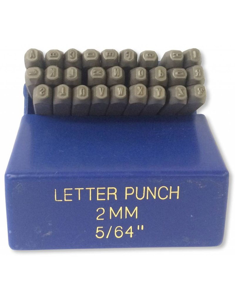 """2mm (5/64"""") Letter Punch Set"""