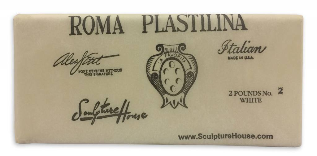 Sculpture House ROMA #2 White Plastilina 2lb