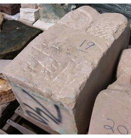 Stone Light Grey Grainy Limestone Carved 36''x19''x7'' 740lb Stone
