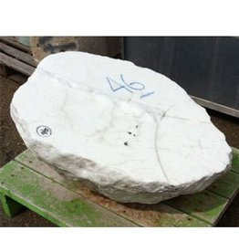 Mother Nature Stone Opaque White alabaster 32''x25''x12'' 672lb Stone