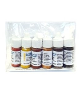 silicone art materials SAM Dispersion Black, Buff, White 7ml 6pc Set
