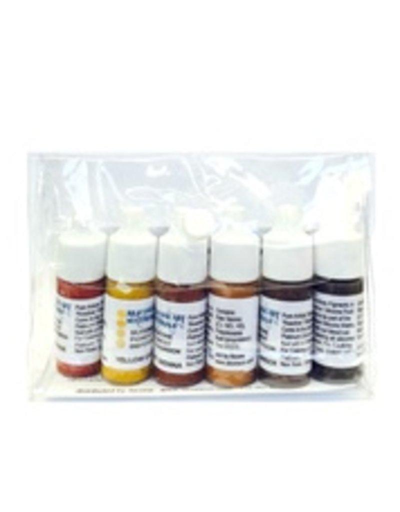 SAM Silicone Dispersion Black, Buff, White 7ml 6pc Set