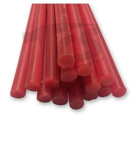 Paramelt Wax Sprue Red Round Solid 3/8'' (15 Pieces)