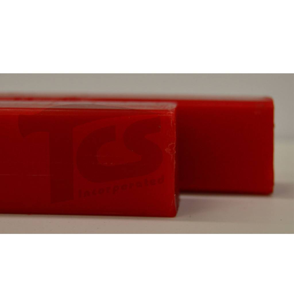 Paramelt Wax Sprue Red Square Cored 1'' (2 Pieces)