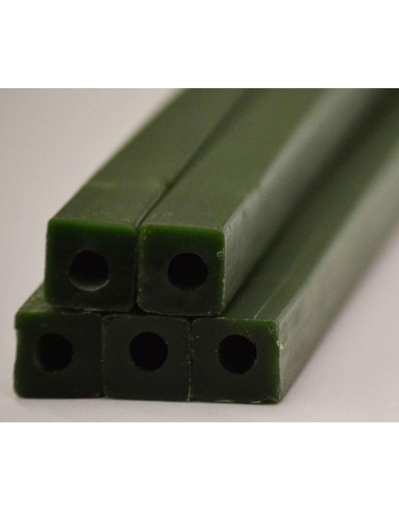 Paramelt Wax Sprue Green Square Cored 3/4'' (5 Pieces)