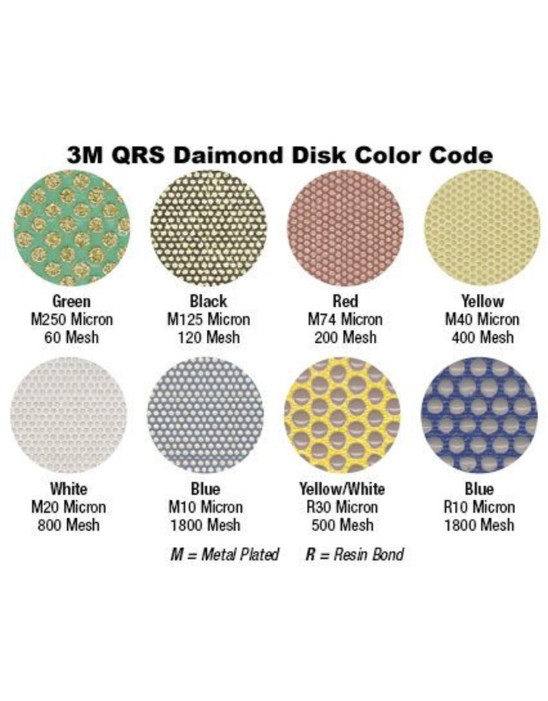 3M 3M QRS Velcro Diamond Disc 1.5'' White Resin 800