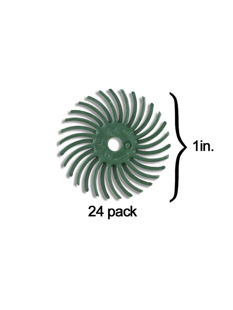 3M 3M Radial Bristle Disc 1'' Green 50Grit (24 Pack)