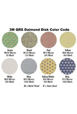 3M 3M QRS Velcro Diamond Disc 1'' White Resin 800