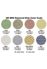 3M 3M QRS Velcro Diamond Disc 1'' Yellow 400