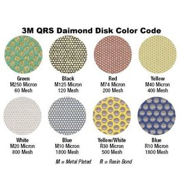 3M 3M QRS Velcro Diamond Disc 1'' Yellow 400