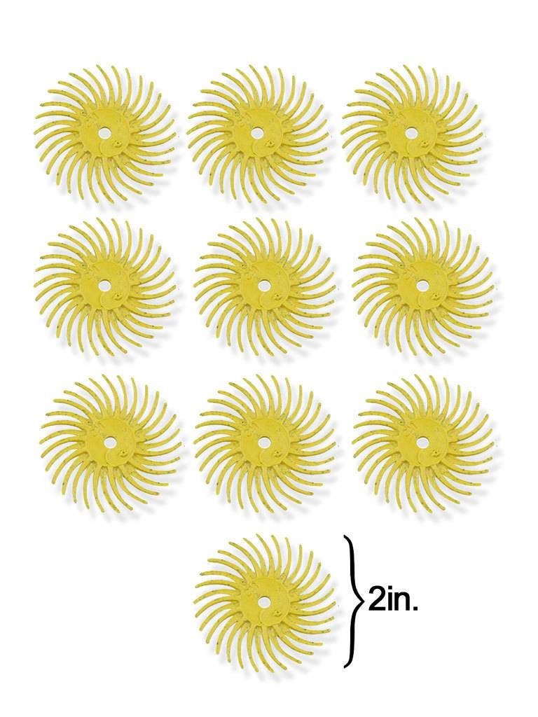3M 3M Radial Bristle Disc 2'' Yellow 80Grit (10 Pack)