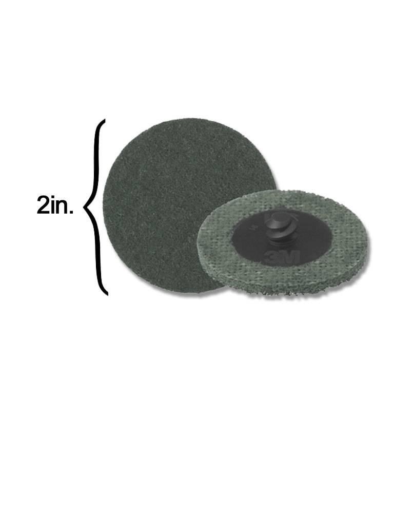 3M 3M Scotch-Brite Disk 2'' ROLOC Super Fine Grey (10 Pack)