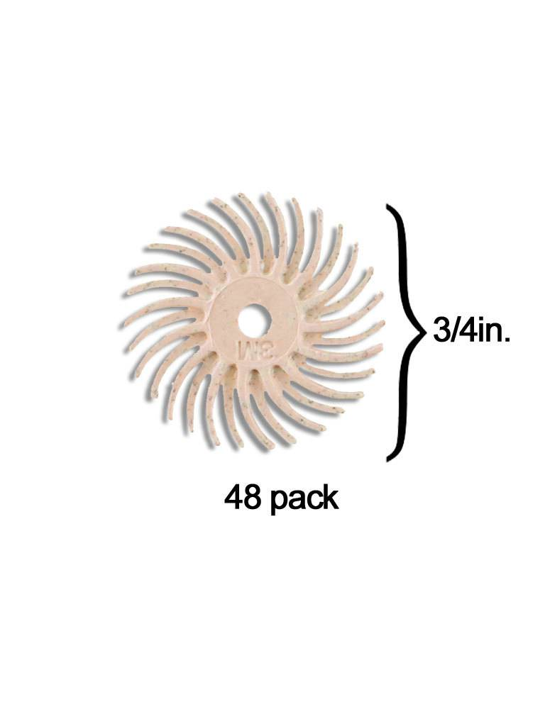 3M 3M Radial Bristle Disc 3/4'' Peach 6 Micron Polish I (48 Pack)