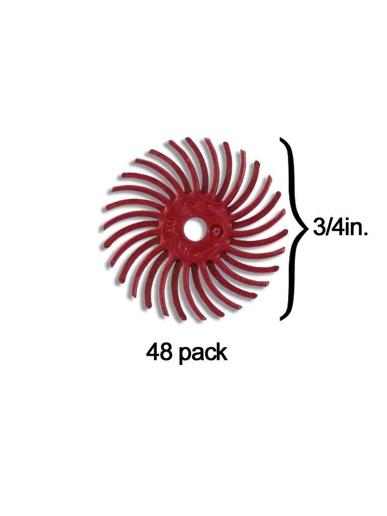 3M 3M Radial Bristle Disc 3/4'' Red 220Grit (48 Pack)