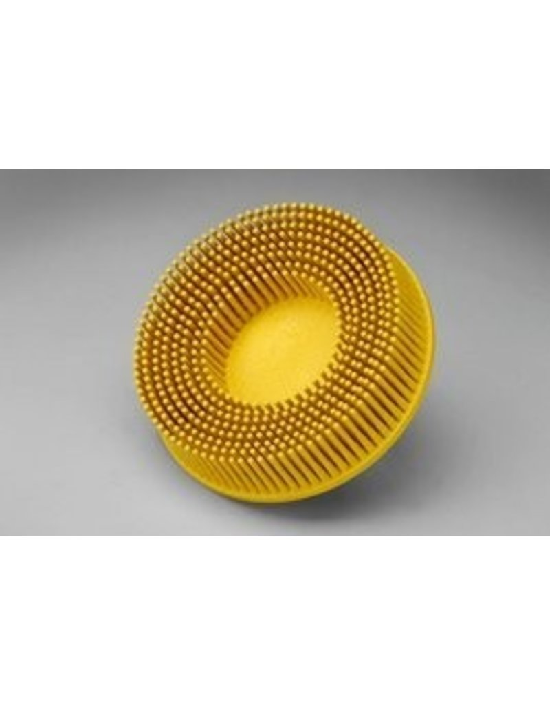 3M 3M ROLOC Bristle Brush 3'' Yellow 80 GRIT