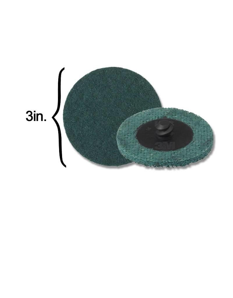 3M 3M Scotch-Brite Disk 3'' ROLOC Very Fine Blue (10 Pack)