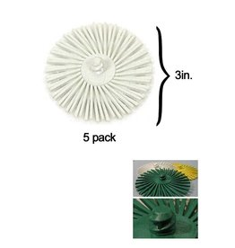 3M 3M ROLOC Radial Bristle Disc 3'' White 120Grit (5 Pack)