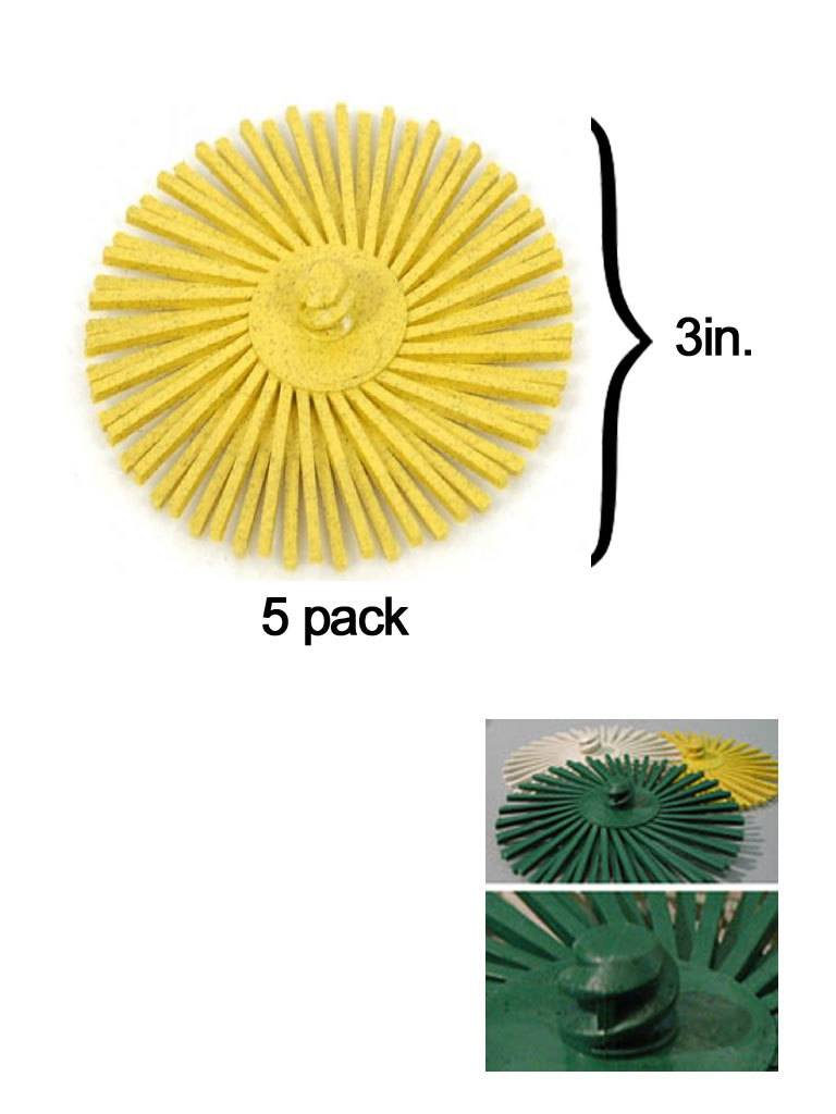 3M 3M ROLOC Radial Bristle Disc 3'' Yellow 80Grit (5 Pack)