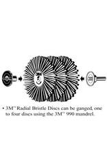 3M 3M 990 Gang Mandrel (For Radial Bristle Brush 2'' & 3'')
