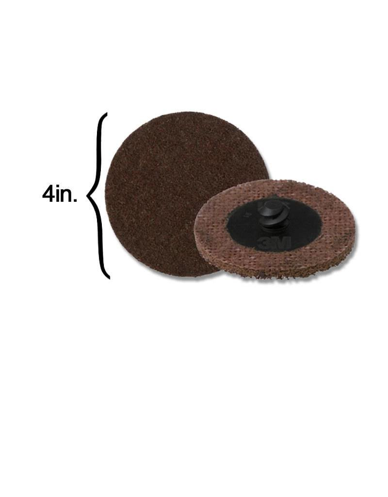 3M 3M Scotch-Brite Disk 4'' ROLOC Coarse Brown (10 Pack)