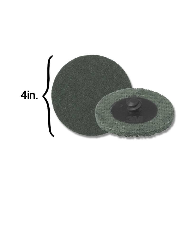 3M 3M Scotch-Brite Disk 4'' ROLOC Super Fine Grey (10 Pack)