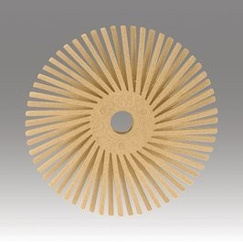 3M 3M Radial Bristle Disc 9/16'' Peach 6 Micron Polish I (48 Pack)