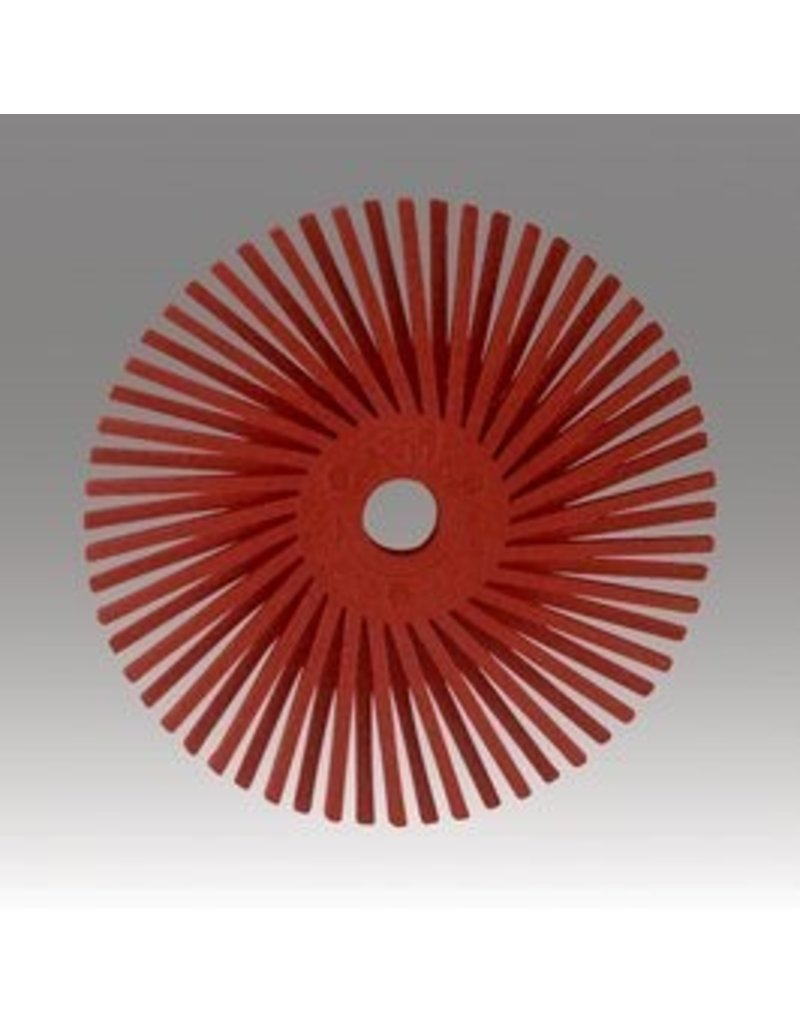 3M 3M Radial Bristle Disc 9/16'' Red 220Grit (48 Pack)