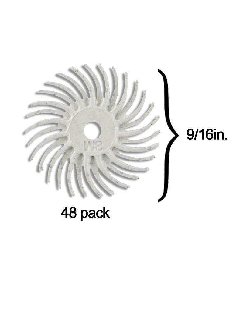 3M 3M Radial Bristle Disc 9/16'' White 120Grit (48 Pack)