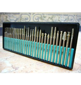30pc Diamond Burr Set 1/8 Shank 40 Grit
