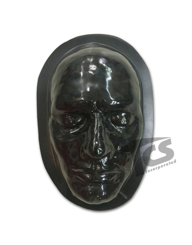 Black Styrene Male Face Form For Prosthetics