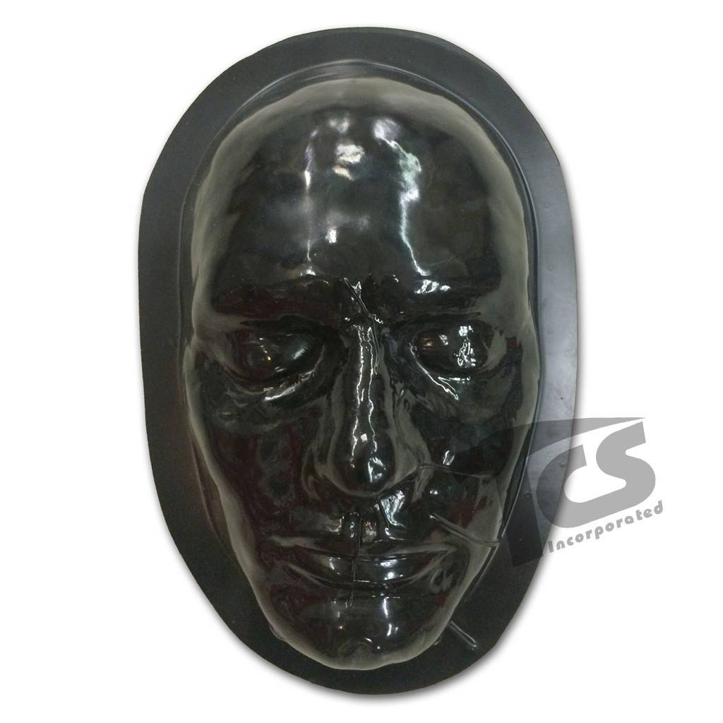Black Styrene Male Face Form For Prosthetics