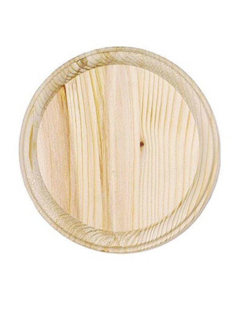 Wood Plaque - Round - 7 inch diameter