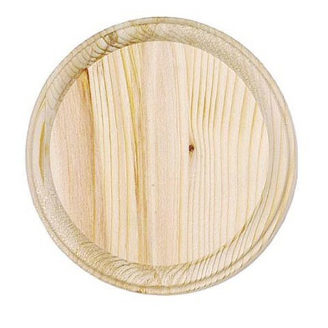 Wood Plaque - Round - 4 inch diameter