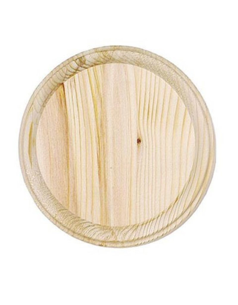 Wood Plaque - Round - 5 inch diameter