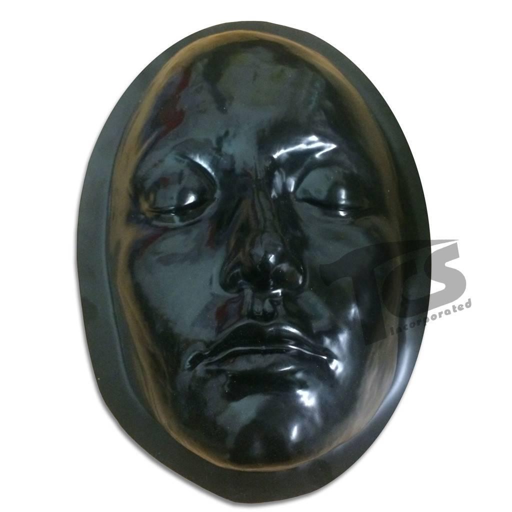 Black Styrene Female Face Form For Prosthetics