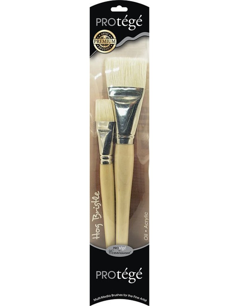 "Connoisseur 1"" & 2"" Wash Protege Hog Bristle Brush 2 Piece Set"