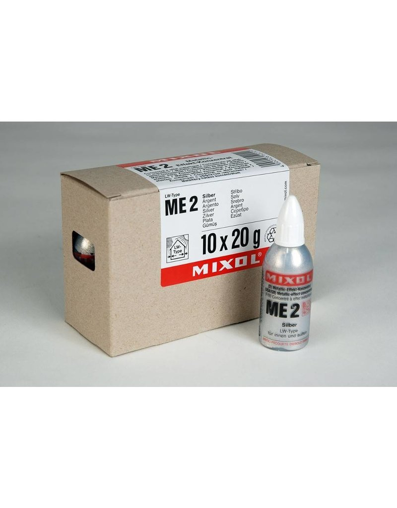 Mixol Mixol #ME2 Silver Metallic Effect 20ml