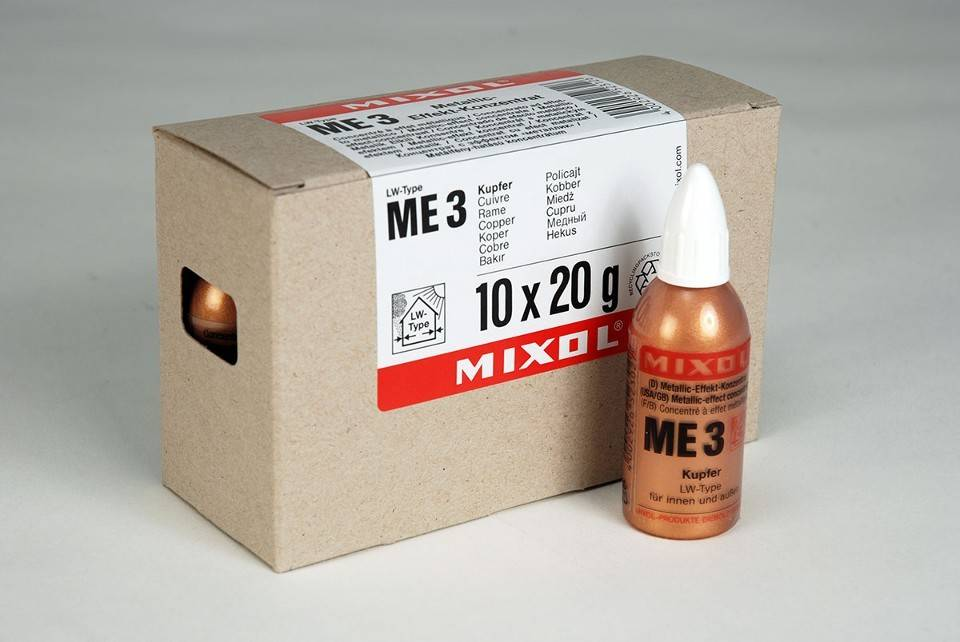 Mixol Mixol #ME3 Copper Metallic Effect 20ml