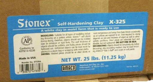 Amaco Stonex Self-Hardening Clay 25lbs