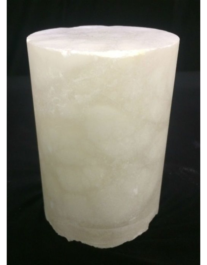 """Mother Nature Stone 2-7/8""""d x 3-1/2""""h White Alabaster Cylinder #221051"""