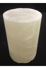 """Mother Nature Stone 3-1/8""""d x 4-1/4""""h White Alabaster Cylinder #221011"""