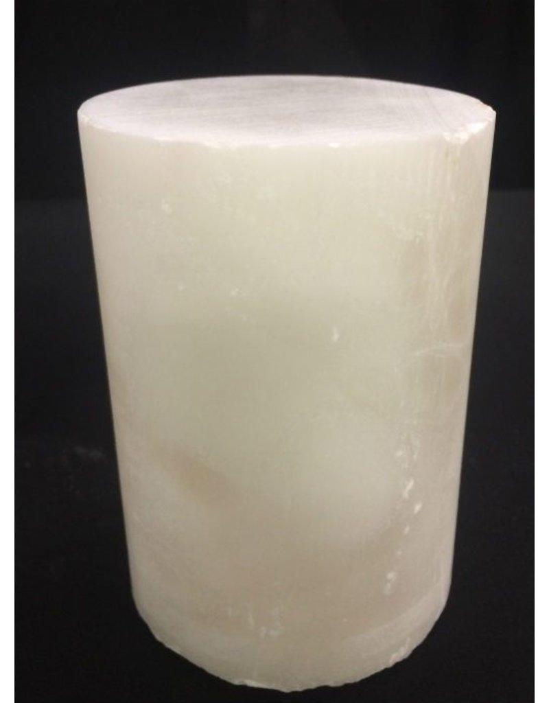 """Stone 3-1/8""""d x 3-3/8""""h White Alabaster Cylinder #221031"""
