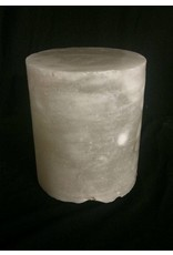 """Mother Nature Stone 4-3/8""""d x 4-1/2""""h White Alabaster Cylinder #221004"""