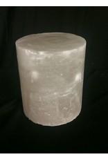 """Stone 4-3/8""""d x 5-1/2""""h White Alabaster Cylinder #221005"""
