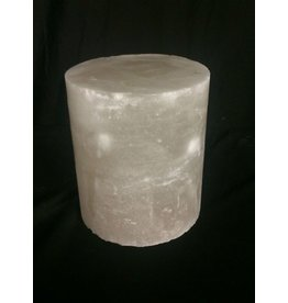 "Mother Nature Stone 4-3/8""d x 5-1/2""h White Alabaster Cylinder #221005"