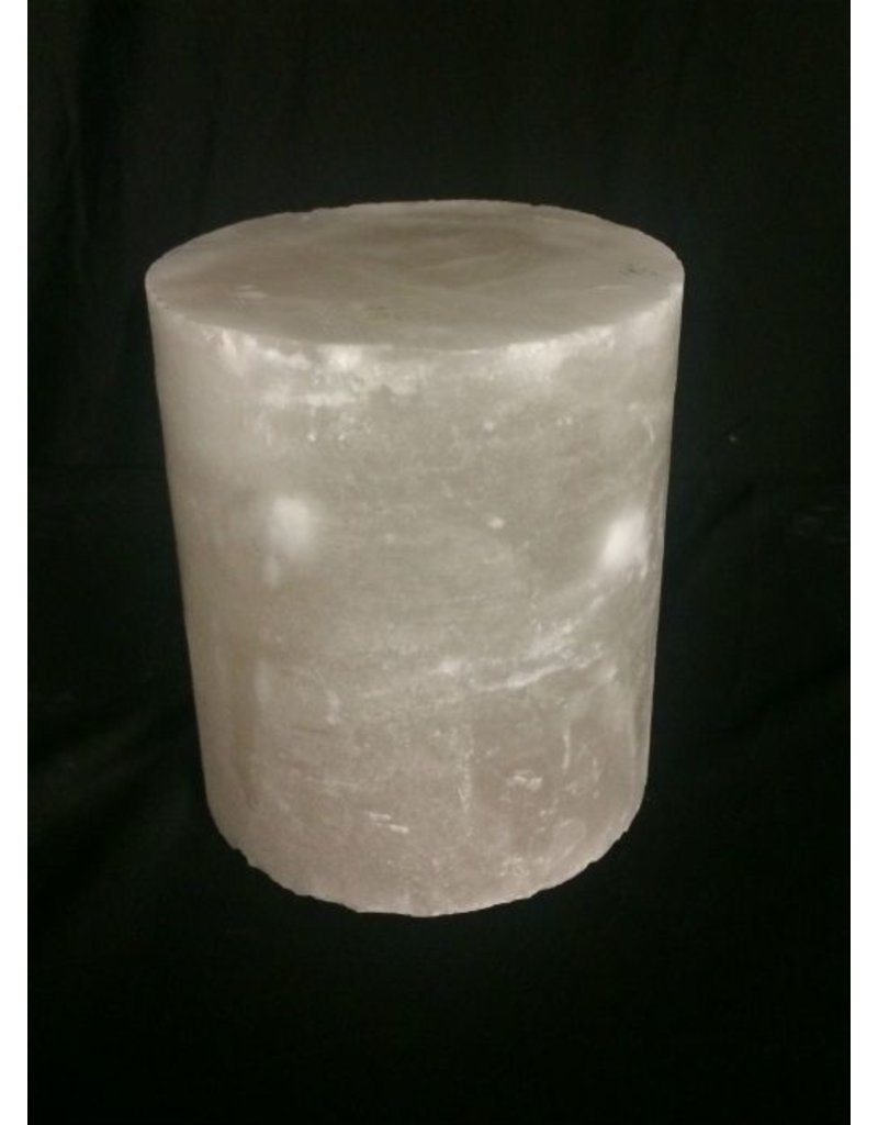 """Mother Nature Stone 4-3/8""""d x 5-1/2""""h White Alabaster Cylinder #221005"""