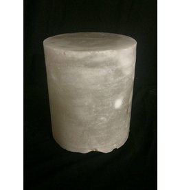 "Mother Nature Stone 4-3/4""d x 4""h White Alabaster Cylinder #221007"