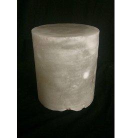 """Stone 4-3/4""""d x 4""""h White Alabaster Cylinder #221007"""