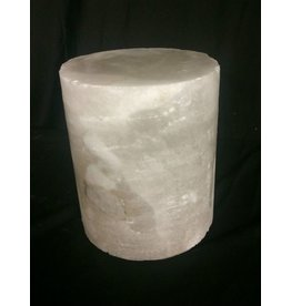 "Mother Nature Stone 4-3/4""d x 5""h White Alabaster Cylinder #221006"