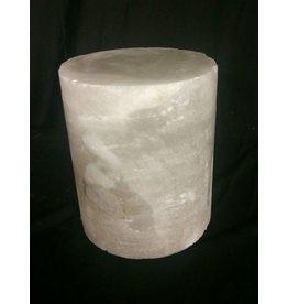 """Stone 4-3/4""""d x 5""""h White Alabaster Cylinder #221006"""